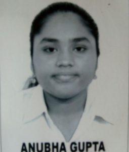 Anubha Gupta 2013-2014 Class XI