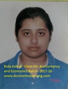 Rida Ashraf- XII-2017-18