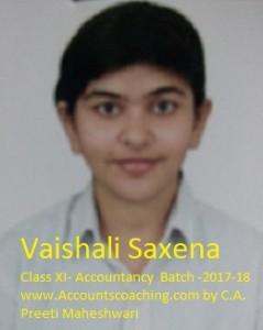 Vaishali Saxena-XI-2017-18