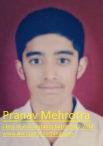 Pranav Mehrotra-XI-2017-18