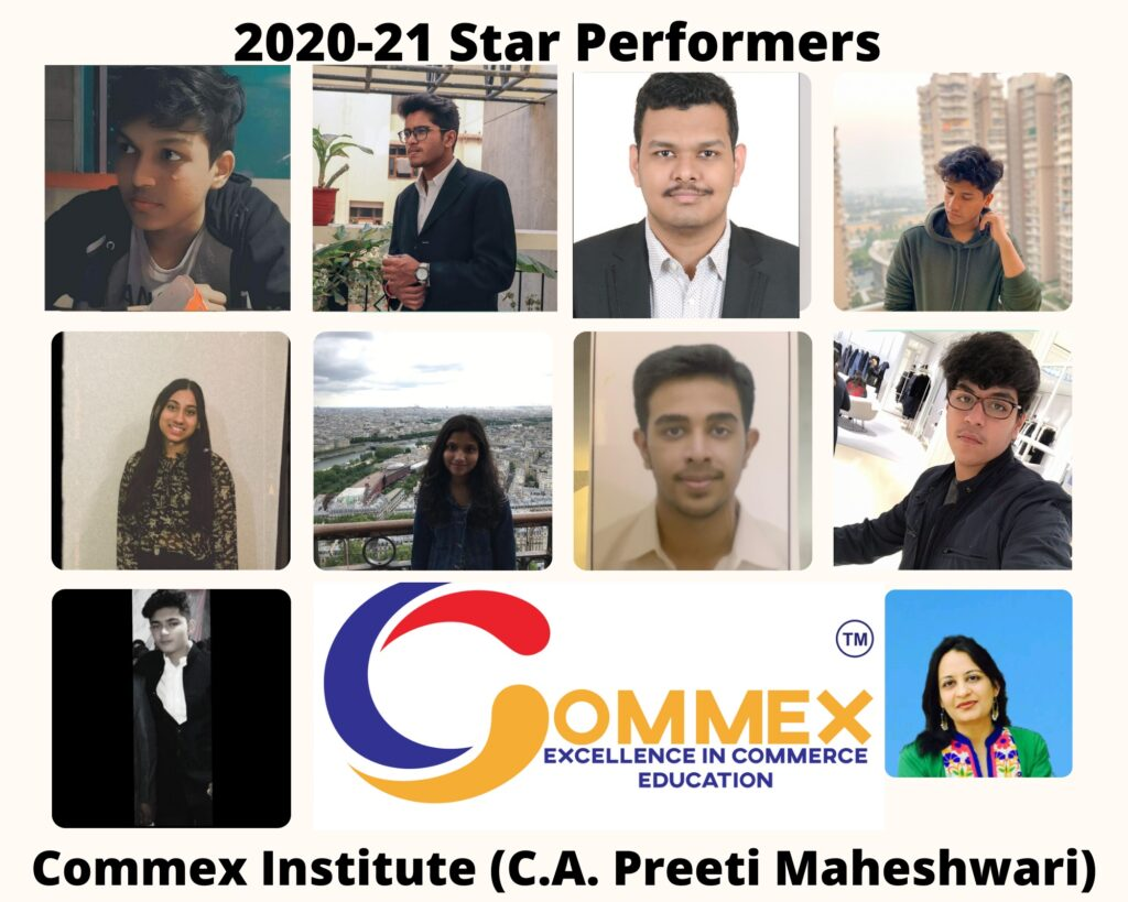 Start Performers in Accountancy, Economics, Applied Maths, Business Studies at Commex Institute (NCR's Leading Commerce Coaching Institute)
