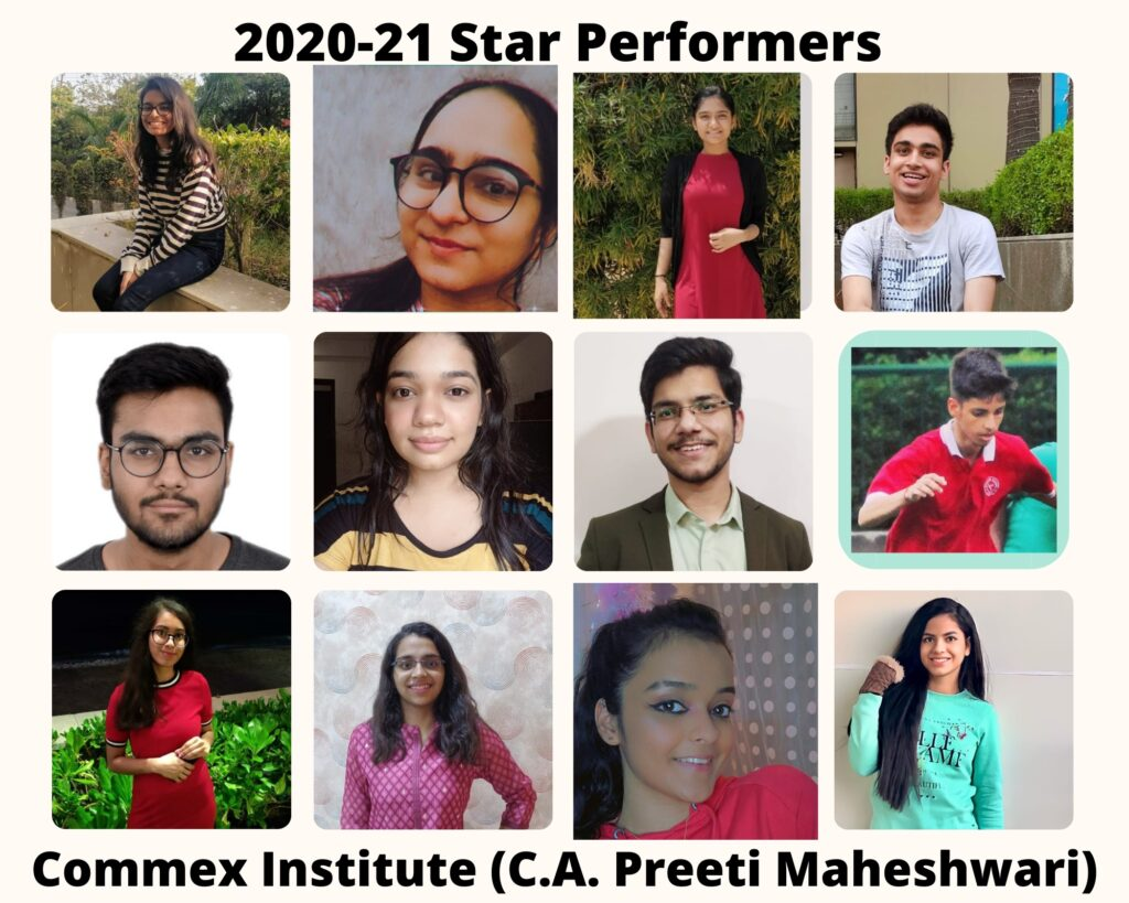 Start Performers of Commex Commerce Coaching Institute